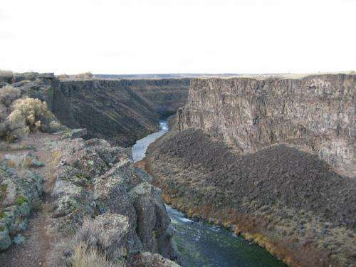 Study of Idaho canyons suggests they were the result of massive flooding not erosion
