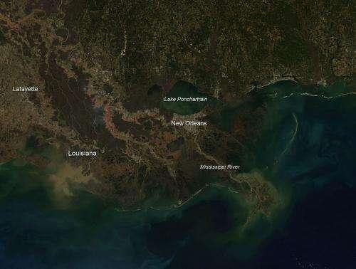 Sugar cane fires in Louisiana