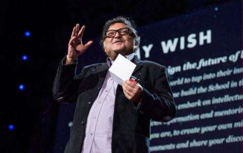 TED prize winner Sugata Mitra in Long Beach, California on February 25, 2013