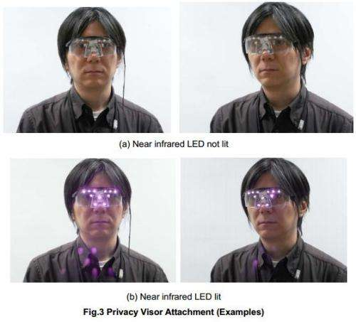 In your face: Near-infrared glasses thwart face recognition