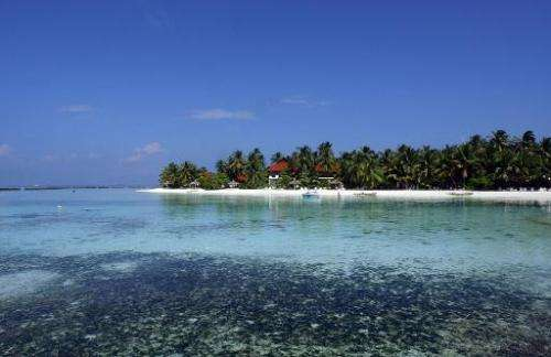 Tha Maldives is one of the island nations threatened by rising sea levels
