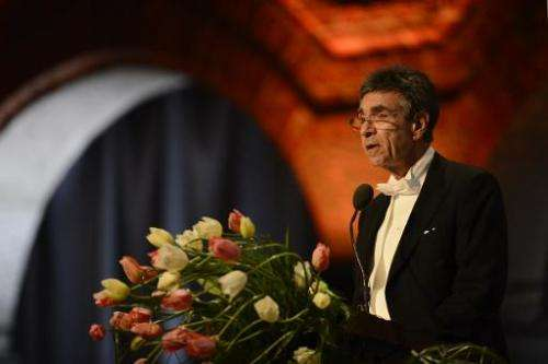 The 2012 Nobel Physics Prizewinner Serge Haroche of France at the Stockholm City Hall, on December 10, 2012
