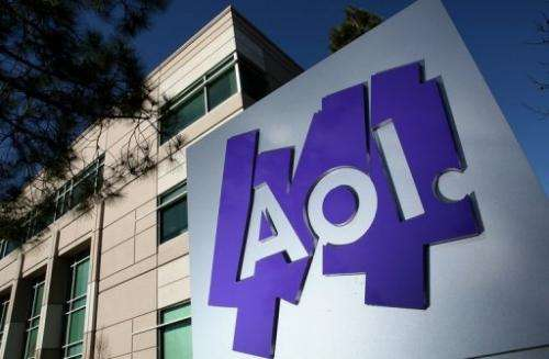 The AOL logo is posted on a sign in front of the AOL Inc. offices on February 7, 2011 in Palo Alto, California