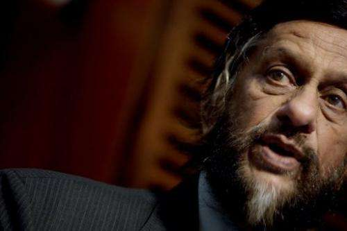 The chairman of the UN's Intergovernmental Panel on Climate Change, Rajendra Pachauri, speaks on June 6, 2011 in Oslo