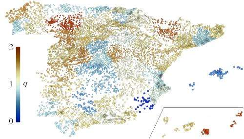 The dynamic of Spain's population follows the maximum entropy principle