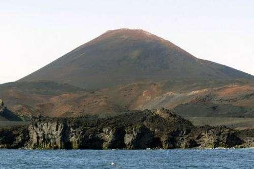 The Hekla volcano on July 1, 2006