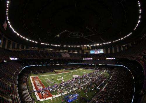 The Mercedes-Benz Superdome in New Orleans will host the Super Bowl on Sunday