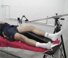 The muscle response of footballers depends on their position on the field