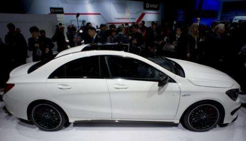 The new Mercedes-Benz CLA 45 AMG is introduced on March 27, 2013 in New York