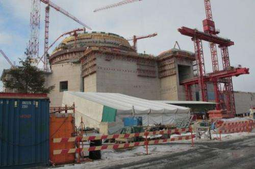 The Olkiluoto 3 nuclear reactor on March 15, 2010