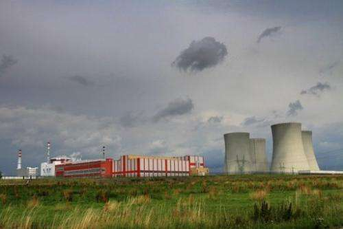 The Temelin Nuclear Power Plant and its four cooling towers are seen in the Czech Republic on July 24, 2011