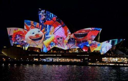 The unveiling of the new Samsung Galaxy S4 smartphone at the Sydney Opera House on April 23, 2013