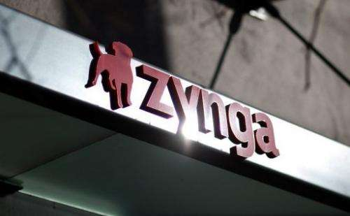 The Zynga logo is displayed on the front of the company's former headquarters on December 9, 2011 in San Francisco