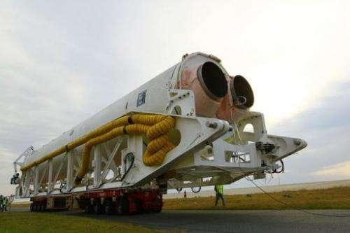 This NASA photo, obtained October 2, 2012, shows Orbital Sciences Corporation's Antares rocket