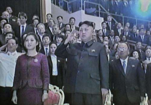 This screen grab taken from North Korean TV on January 3, 2013 shows leader Kim Jong-Un and his wife Ri Sol-Ju