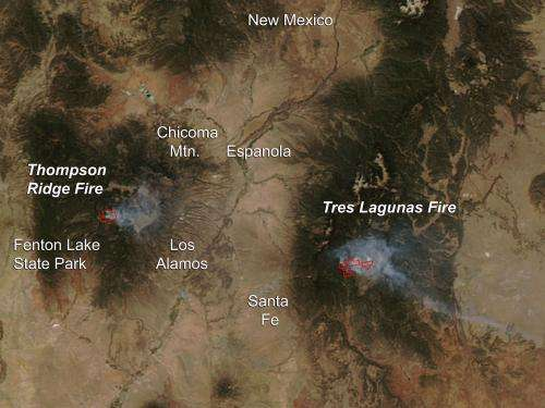 Thompson Ridge Fire, New Mexico