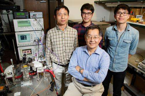 Tiny laser gives big boost to high speed data transmission