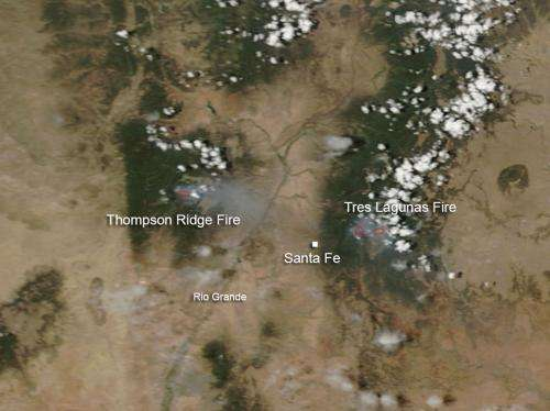 Tres Lagunas and Thompson Ridge fires in New Mexico