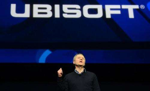 Ubisoft CEO Yves Guillemot, talks as Sony introduces the PlayStation 4 at a news conference February 20, 2013, New York