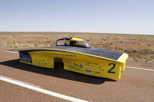 U-M solar car: Sleek, reliable and ready to race