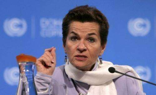 UN Convention on Climate Change executive secretary Christiana Figueres pictured in Doha on November 30, 2012