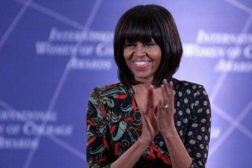 US first lady Michelle Obama on March 8, 2013 in Washington, DC