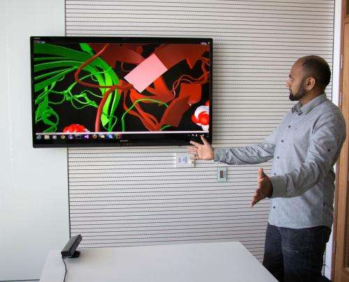 Using gesture and voice to control 3D molecular graphics
