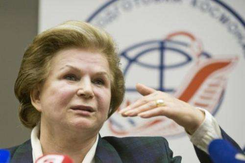 Valentina Tereshkova, pictured during a press conference in Star City outside Moscow, on June 7, 2013