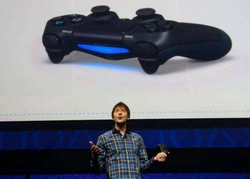 Video game designer Mark Cerny talks about the new controler Bioshock 4 on February 20, 2013 in New York