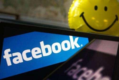 View of the Facebook logo taken in Washington on May 10, 2012