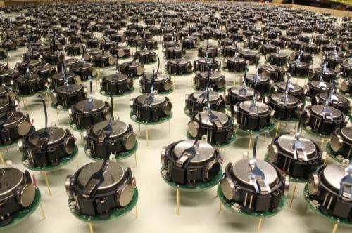 A self-organizing thousand-robot swarm