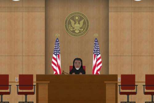 A simulation game to help people prep for court