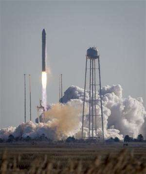 Cargo ship with gifts, ants heads to space station