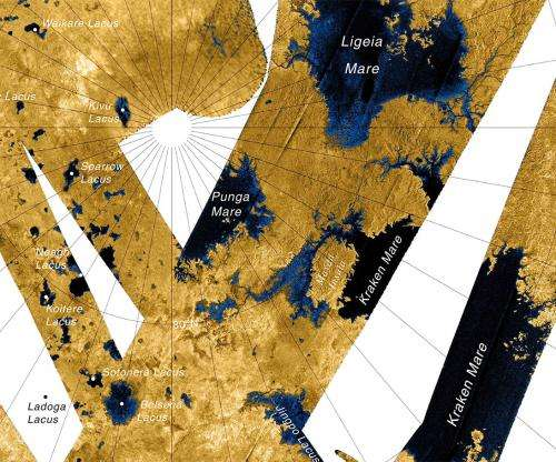 Cassini may have spotted waves in Titan's seas