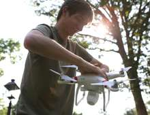 Creative adaptation of a quadcopter