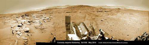 Curiosity Captures Stunning New Mount Sharp Panorama 'On The Go'