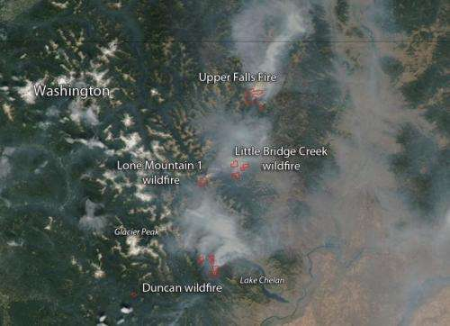 Fires in Northern Washington State