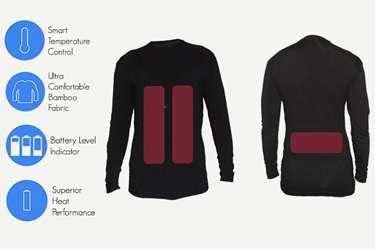 First intelligent, heated clothing burns up Indiegogo