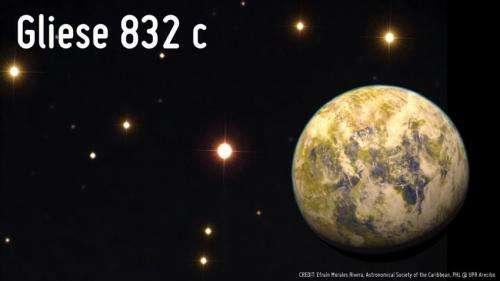 Gliese 832c with Starfield