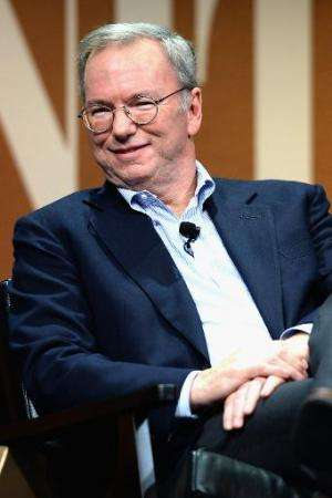 Google Executive Chairman Eric Schmidt speaks onstage during 'Why Can't Tech Save Politics?', at the Vanity Fair New Establishme
