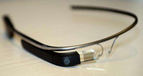 Google Glass is displayed in Los Angeles, California, on August 27, 2013
