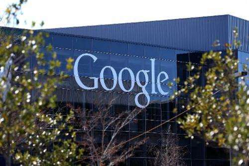 Google headquarters in Mountain View, California, pictured on January 30, 2014