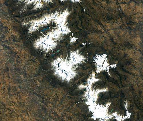 Image: Orbital view of Mount Huascarán, Peru