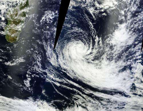 NASA satellite sees Tropical Cyclone Fobane spinning down