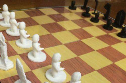 Lab uses 3-D printing to make historical artifact chess sets