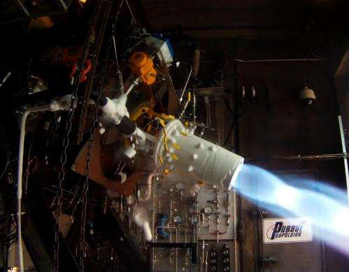 Lunar-landing rocket research hits milestone with 'hot-fire' test