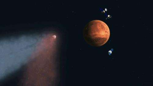 Mars spacecraft, including MAVEN, reveal comet flyby effects on Martian atmosphere