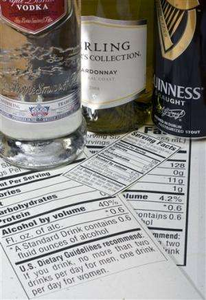 Menus will sport new calorie labels for alcohol