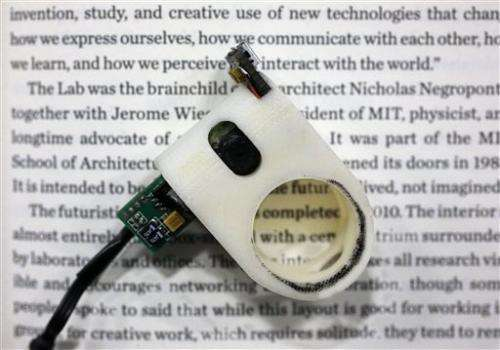 MIT finger device reads to the blind in real time