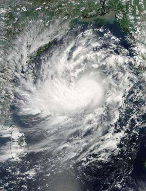 NASA eyes Tropical Cyclone Hudhud as Warnings posted for East-Central India